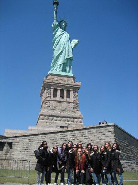 Primeira vez em New York, em 2008 participando do Youth American Grand Prix.