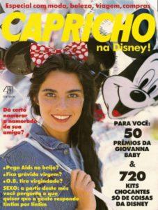 Guia Capricho que eu lia nos anos 90, quando eu sonhava em ir para a Disney