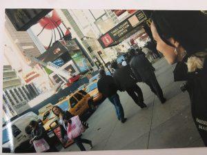 Mais de meia hora admirando a Times Square