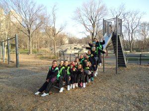 Grupo no Central Park em New York
